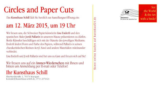 Kunsthaus Schill,Stuttgart, Jordi Pallares, Lisa Enderli