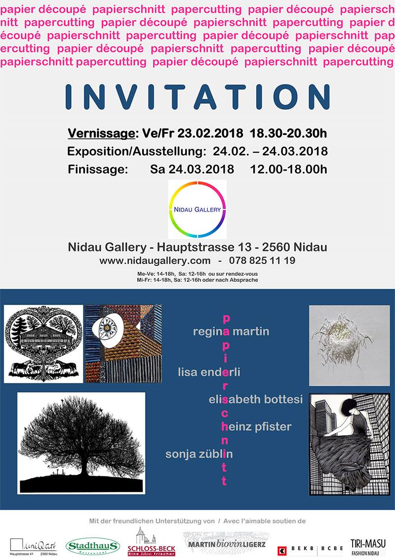 Nidau Galerie, Papierschnitt, 23. Februar - 14. März 2018
